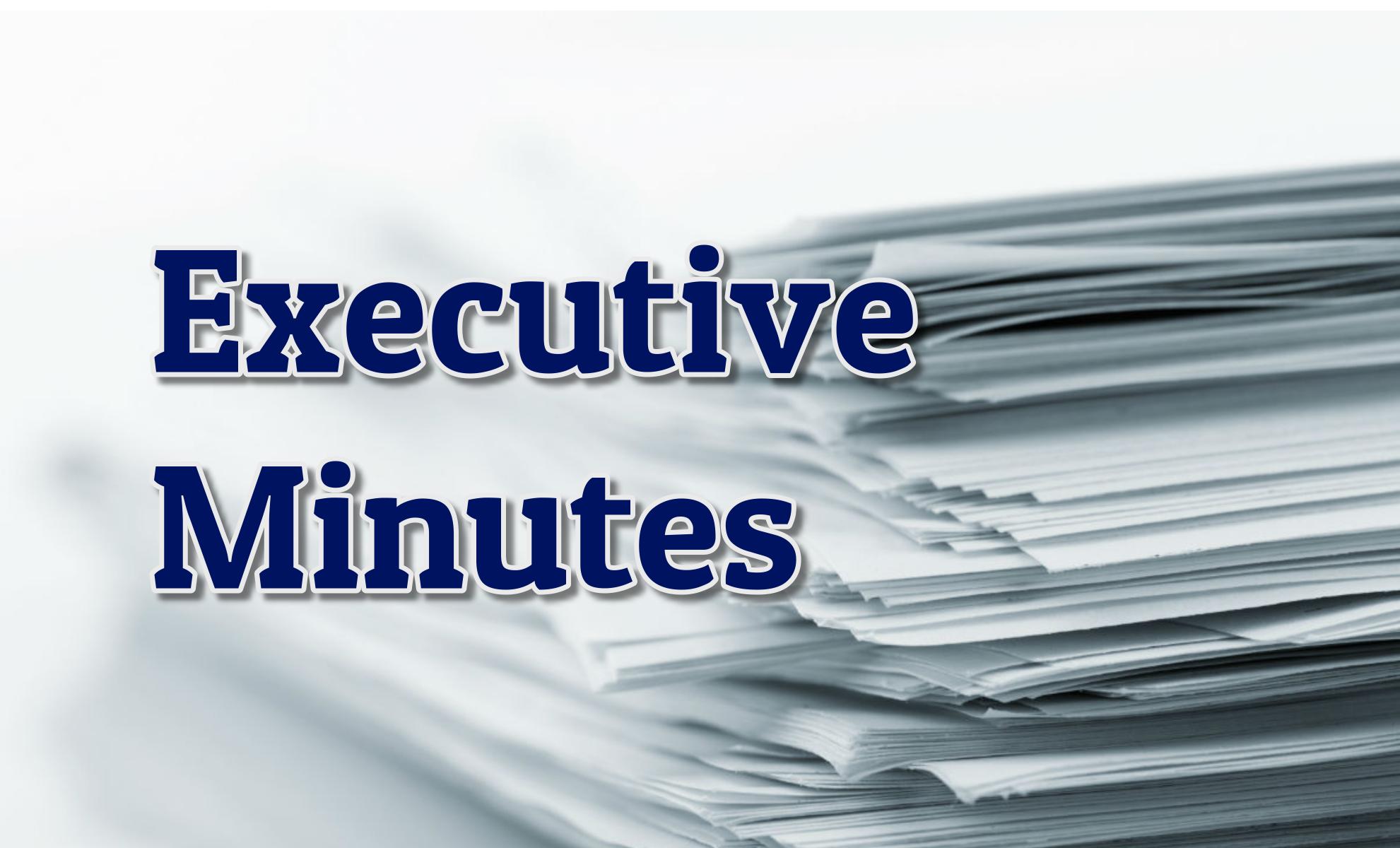 Executive Minutes